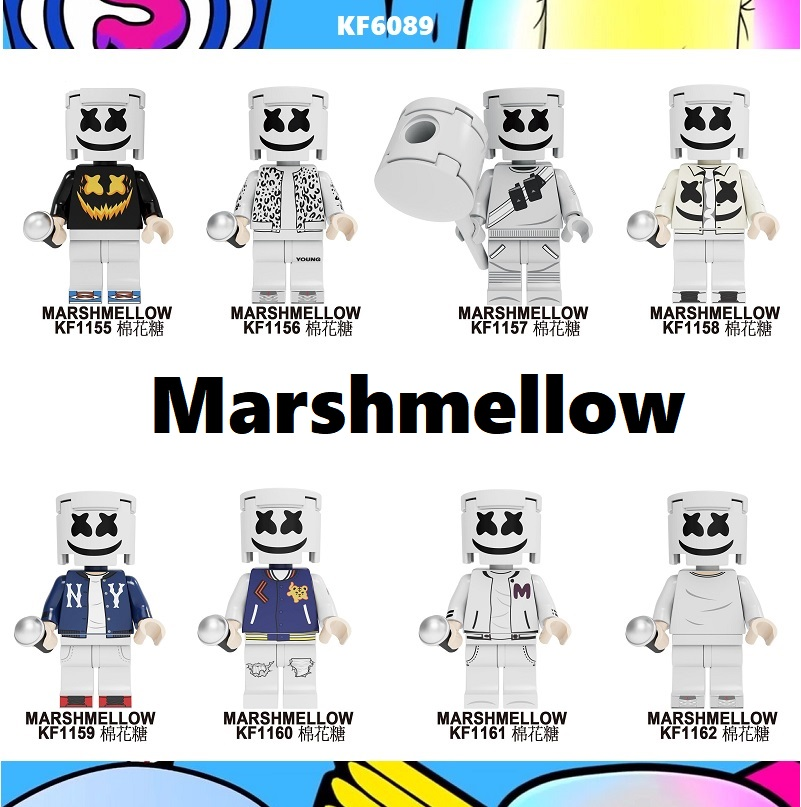 20Pcs Wholesales Famous DJ Singer AIM Agent Pennywise Costume Adult Scary Clown Building Blocks Children Toys <font><b>KF6089</b></font> image
