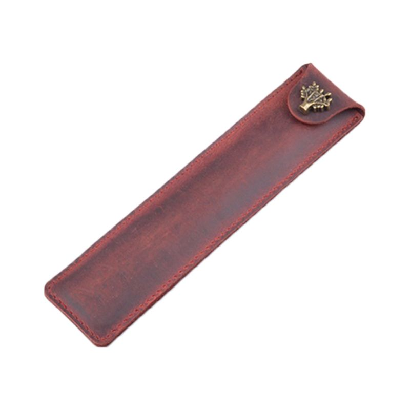 Leather Leather Pen Holder Color Options Fountain Pen Pouch Pencil Holder Handmade Ballpoint Pen Protective Sleeve Cover For