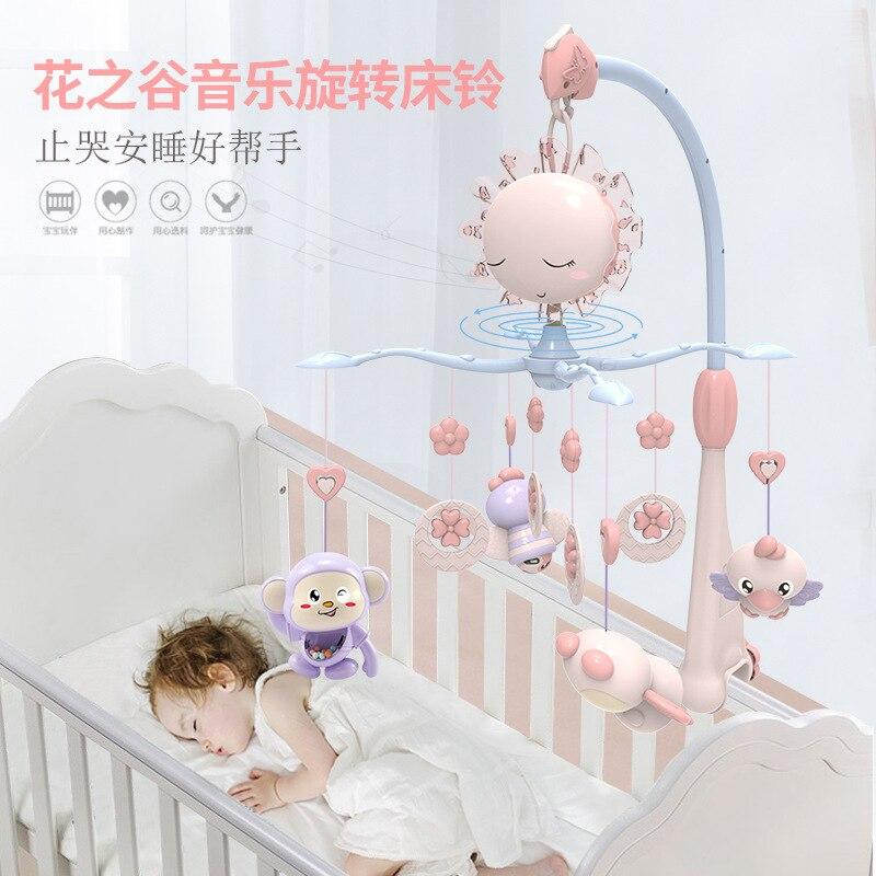 Nouveau-né berceau cloche 0-1 ans 3-6 mois 12 garçons et filles jouets musique lit rotatif cloche puzzle hochet