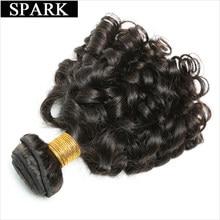 Spark cabelo encaracolado brasileiro, cabelo humano com tela de 8