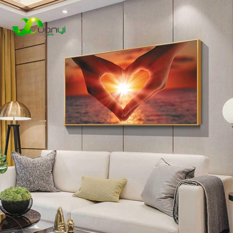 Miłość pocałunek sexy płótno malarstwo abstrakcyjne plakat obraz olejny i drukuj Wall Art obrazki do sypialni salon Home Decor