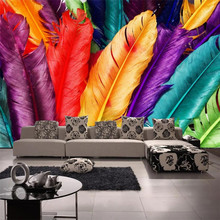 Custom wallpaper papel de parede 3D mural color feather TV background wall living room bedroom ktv restaurant mural 3d wallpaper custom 3d murals 3 d santa claus papel de parede hotel restaurant bar living room sofa tv wall children s bedroom wallpaper
