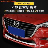 High quality stainless steel Front Grille Around Trim Racing Grills Trim For Mazda 3 Axela 2017 2018 2019 ,Car Styling