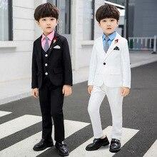 Children Jacket Shirt Vest Trousers Set Boys Birthday Wedding Suit Kids Formal Suit
