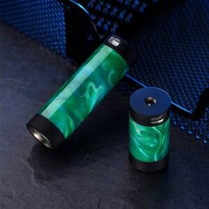 Image 4 - Vapor frío Takit Mini V2 18650 18350 Vape Mod 24mm mecánica Mod resina Material 30W de potencia de salida cigarrillo electrónico