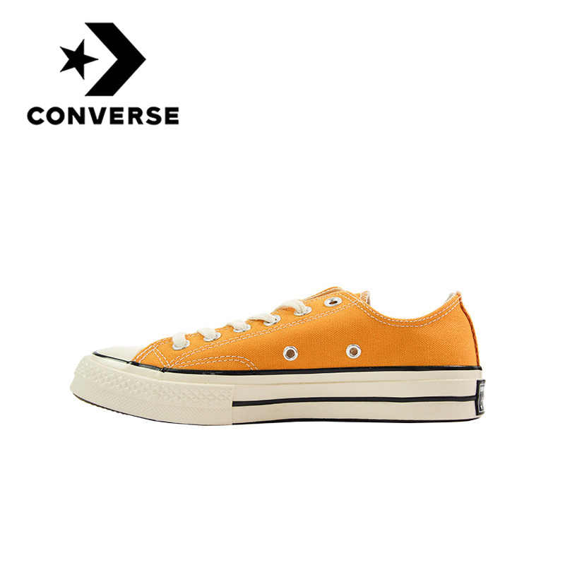 Original Authentic Converse ALL STAR Unisex Classic Retro Neutral Skateboarding Shoes Lace-up Durable Canvas Open Smile Footwear