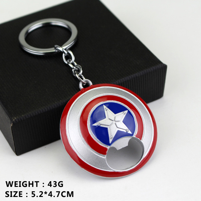 Captain America Shield Bottle Opener Keychain 4