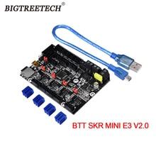 Материнская плата BIGTREETECH BTT SKR MINI E3 V2 32 бит, встроенная TMC2209UART, обновленная для Creality Ender 3/5 Pro, детали для 3D принтера