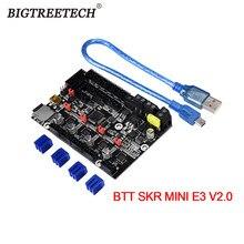 Bigtreetech btt skr mini e3 v2 32bit placa-mãe integrado tmc2209uart atualização para creality ender 3/5 pro peças de impressora 3d
