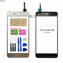 5.2'' Touch Screen For Vernee M5 Touch Screen Front Glass Digitizer Panel Glass Sensor Adhesive