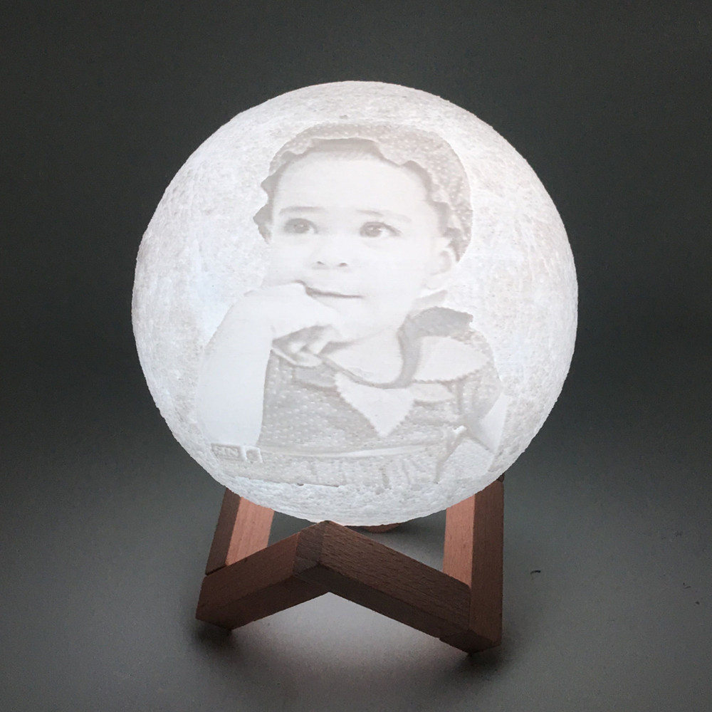 3D Photo Moon Lamp