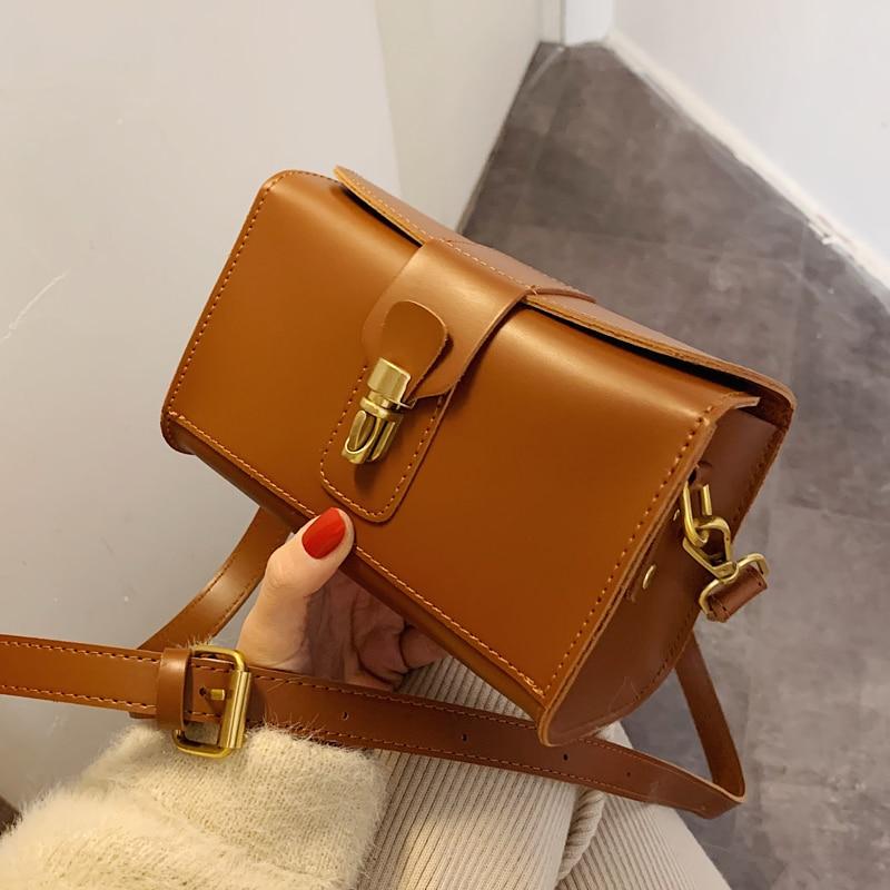 French Small Group Bag Women's Bag New 2020 Fashion Messenger Bag Foreign Air Single Shoulder Bag Texture Square Bag