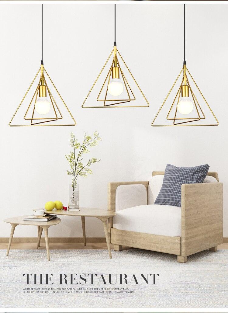 Simple Modern Style Led Lamps Fashion Chandeliers Home Creative Lighting Bedroom Decoration Loft Light Iron Chandelier E27 Bulb