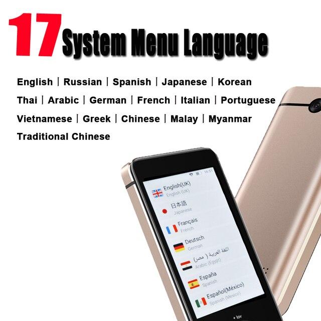 M9 المحمولة الذكية صوت المترجم العالمي حاليا مترجم مترجم على الانترنت مترجم ذكي الترجمة الروسية 3