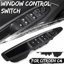 Interruptor de elevador de ventana delantero izquierdo del coche con botón de espejo retrovisor Manual para Citroen C4 2004-2010