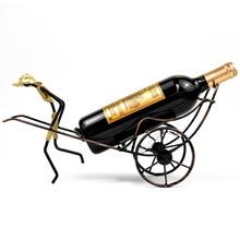 Handmade Creative Human Rickshaws Shape Kitchen Bar Decor Wine Rack Holder Stand Support Bracket недорого