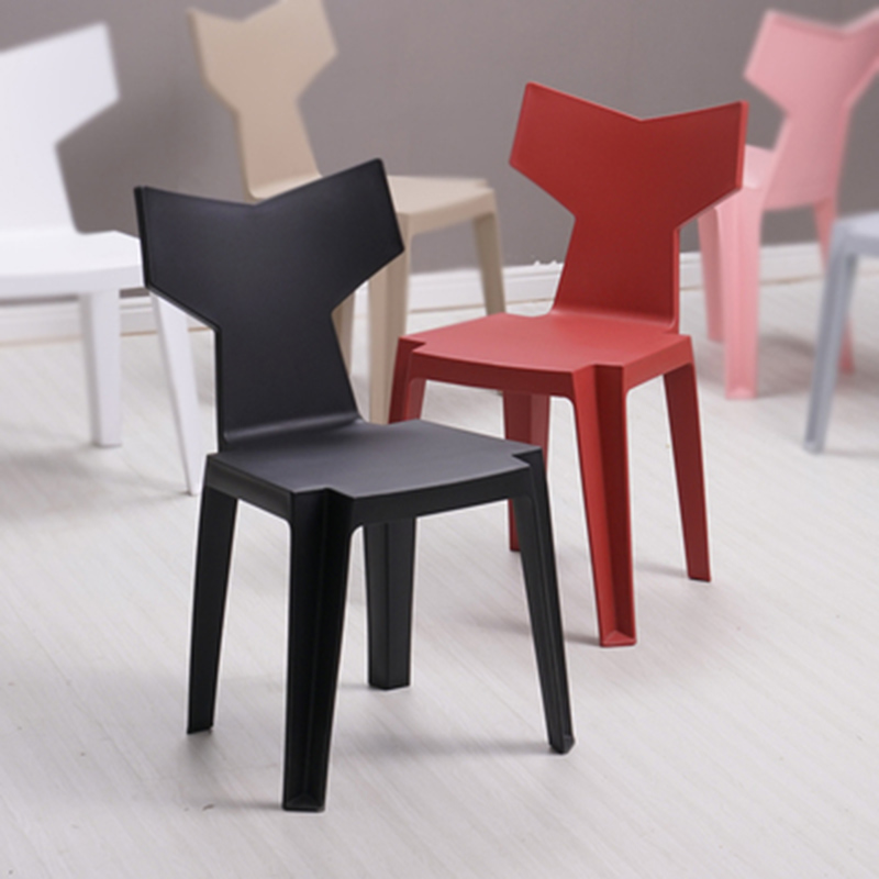Chaise en plastique nordique dinant des chaises pour des salles à manger bureau réunion ordinateur chaise famille chambre apprentissage salon dinant des chaises