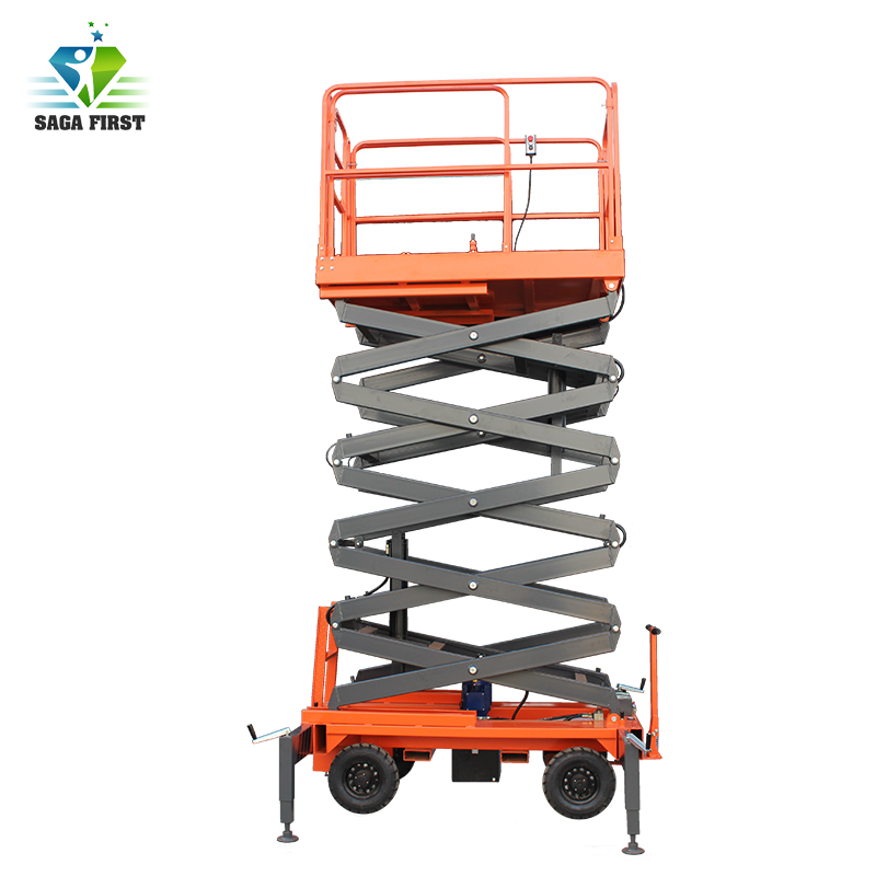 Four Wheels Mobile Scissor Hydraulic Lift Platform