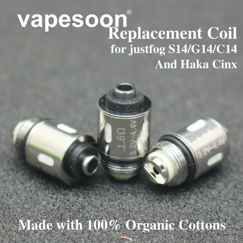 20pcs Vapesoon Replacement Japanese Organic Cotton Coil For JUSTFOG Q16 Coil 1.2ohm 1.4ohm 1.6ohm For Q16 Q14 C14 Starter Kit