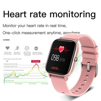 LIGE New P8 1.4 inch Full Touch Women Digital Watches Waterproof Sports For xiaomi iPhone Multifunctional  Electronic Watch Men 3