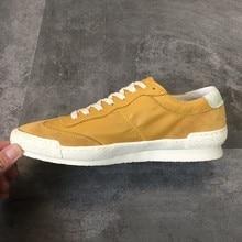 Zapatos casuales de lujo Hombres Moda Cuero genuino Vaca Zapatillas amarillas Verano