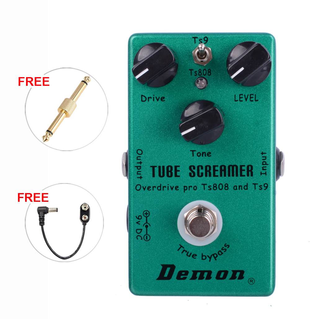 Demon <font><b>TS808</b></font> Tube Screamer Overdrive Pro Vintage Electric Guitar Effect Pedal 2 in 1 Overdrive And True Buypass image