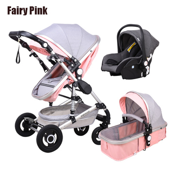 Newborn Baby Stroller 3 in 1 High Landscape Carriage Luxury Travel Pram Basket quality Stroller Baby Car seat Hot Sale Upgrade! 12