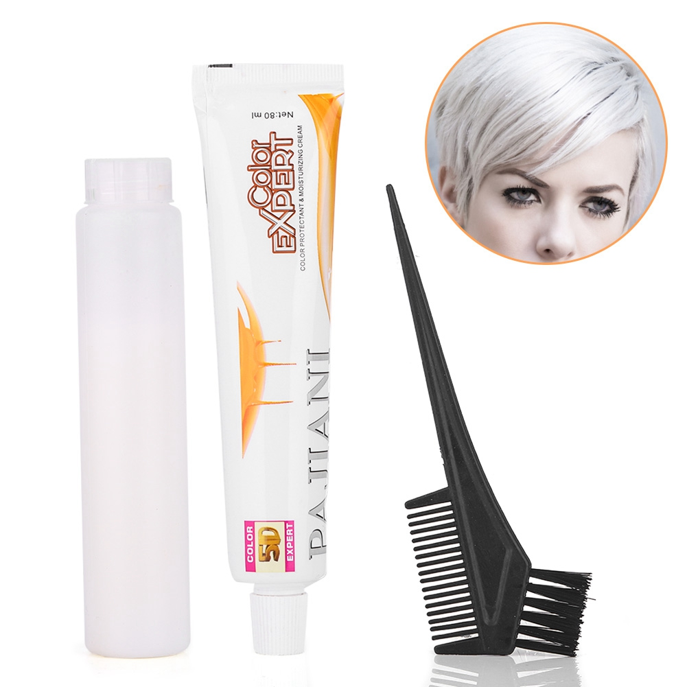 80ml*2 Hair Coloring Dyeing  Hair Whitening Cream Hair Dye Cream Hair Color Wax Bleaching Hairdressing Comb Tools