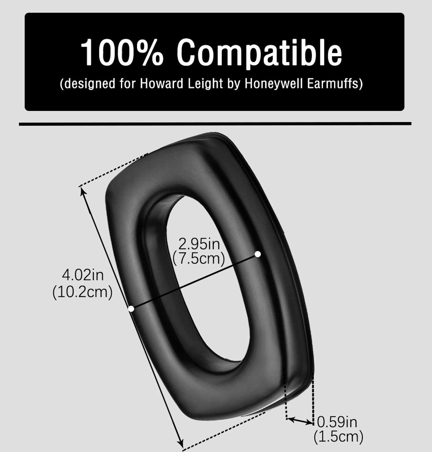 Image 3 - ZOHAN Gel Ear Pads For Howard Leight By Honeywell Impact Earmuff Electronic Shooting EarmuffEar Protector   -