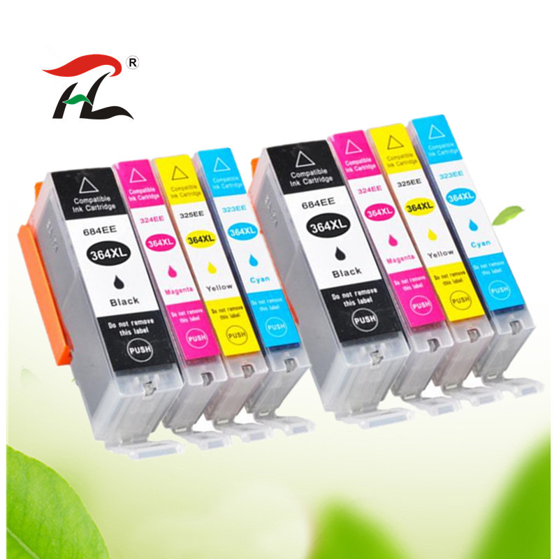 8PK Compatible 364XL ink cartridge for HP364 <font><b>364</b></font> XL for <font><b>hp</b></font> 3070A 3520 3522 4620 4622 5511 5512 5514 5515 5520 5522 5524 6515 image