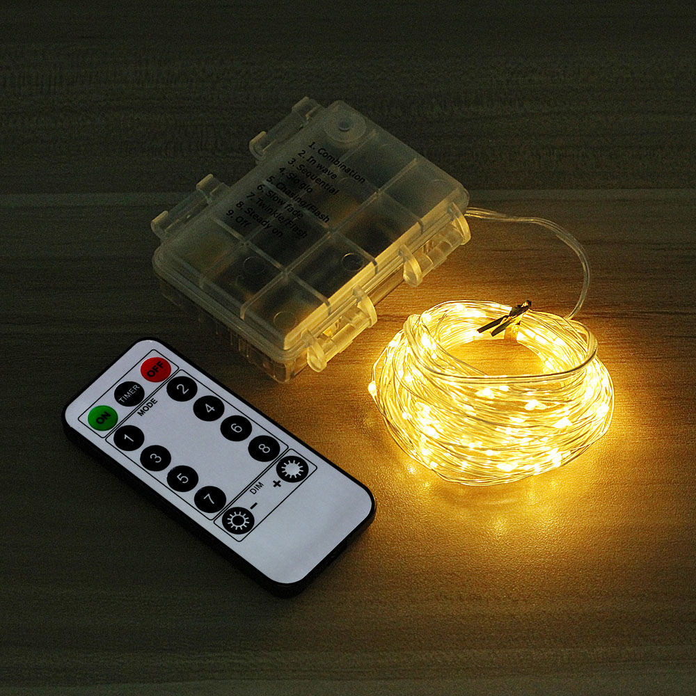 Hot Discount Ccc3 5m 10m 20m Led Fairy Lights Battery Powered Garland Flash Remote Control String Lights Bedroom Home Holiday Christmas Decoration Ks Gen Namibia Co