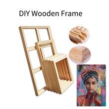 Wooden Frame Home Decor DIY Natural Wood Photos Frame Canvas Painting Frame Poster Hanger for Bedroom Decoration
