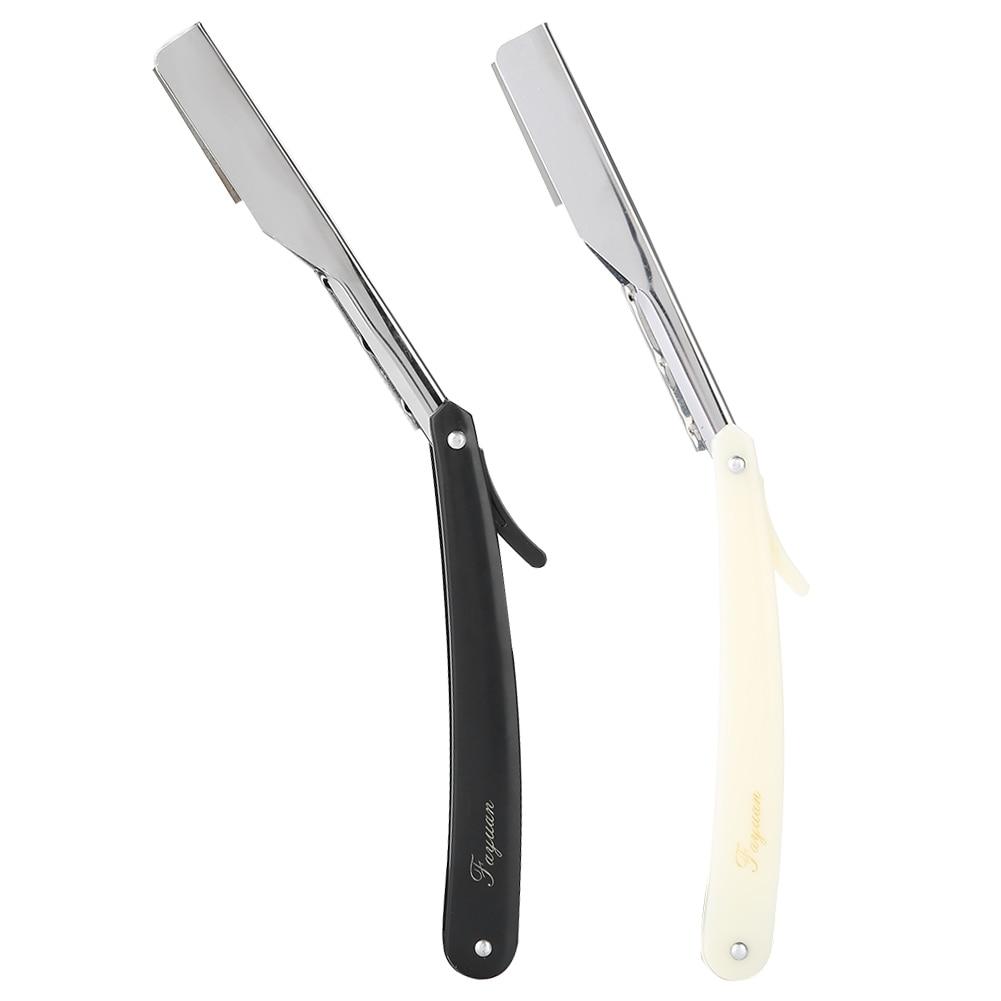 Barber Razor Straight Edge Hair Clipper Salon Folding Blade Razor With Blade Shaving Razor Tools Haircut Hair Removal Tools