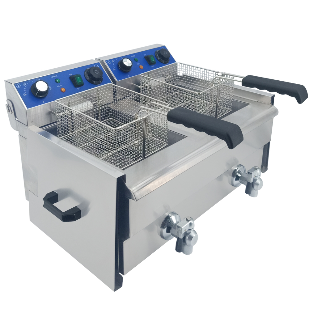 Stainless Steel Electric Deep Fryer Multifunctional Timing Fat Fryer Frying Machine Grill Fried Fish Chicken Meat Potato Chips