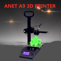 Anet A9 3D Printer High Precision Support multiple filaments Stable aluminum frame with stainless steel rod and HD LCD screen