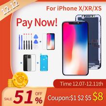 Klasa Elekworld dla iphone X OLED XS MAX XR TFT z ekranem dotykowym 3D Digitizer montaż nie martwy piksel ekran LCD wymiana wyświetlacza tanie tanio CN (pochodzenie) Pojemnościowy ekran 1920x1080 3 For iphone X XS XR LCD i ekran dotykowy Digitizer Apple iphone iphone xs
