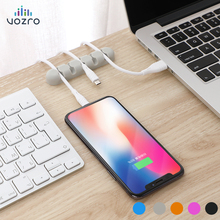 VOZRO Cable Organizer Silicone USB Winder Flexible Management Clips Holder For Mouse Headphone Earphone