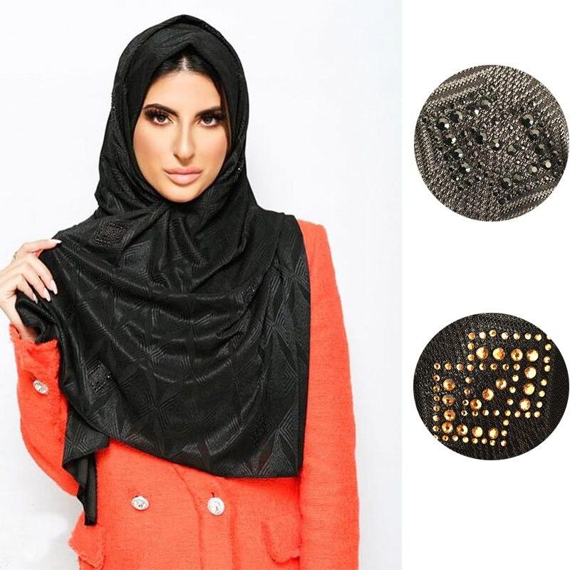 LXDBS D4 Diamondshape New Dubai Silk Jersey Hijabs For Netherlands Islamic Women Decoration Wrap Scarf