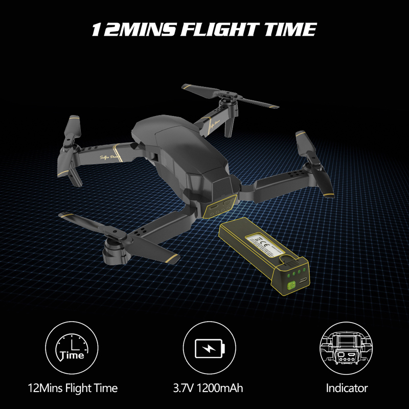 Closeout DealsGlobal Drone Camera Mini Quadcopter High-Hold-Helicopter E520 Foldable E58 with HD Juguetes