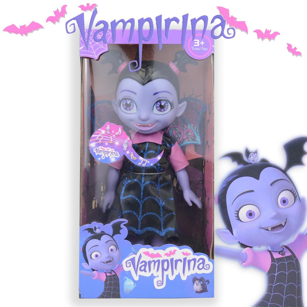 34cm Vampire Toys Junior Vampirina Toys Dolls With Light & Music Toys The Vamp Batwoman Girl Figure Toys For Children Brinquedos