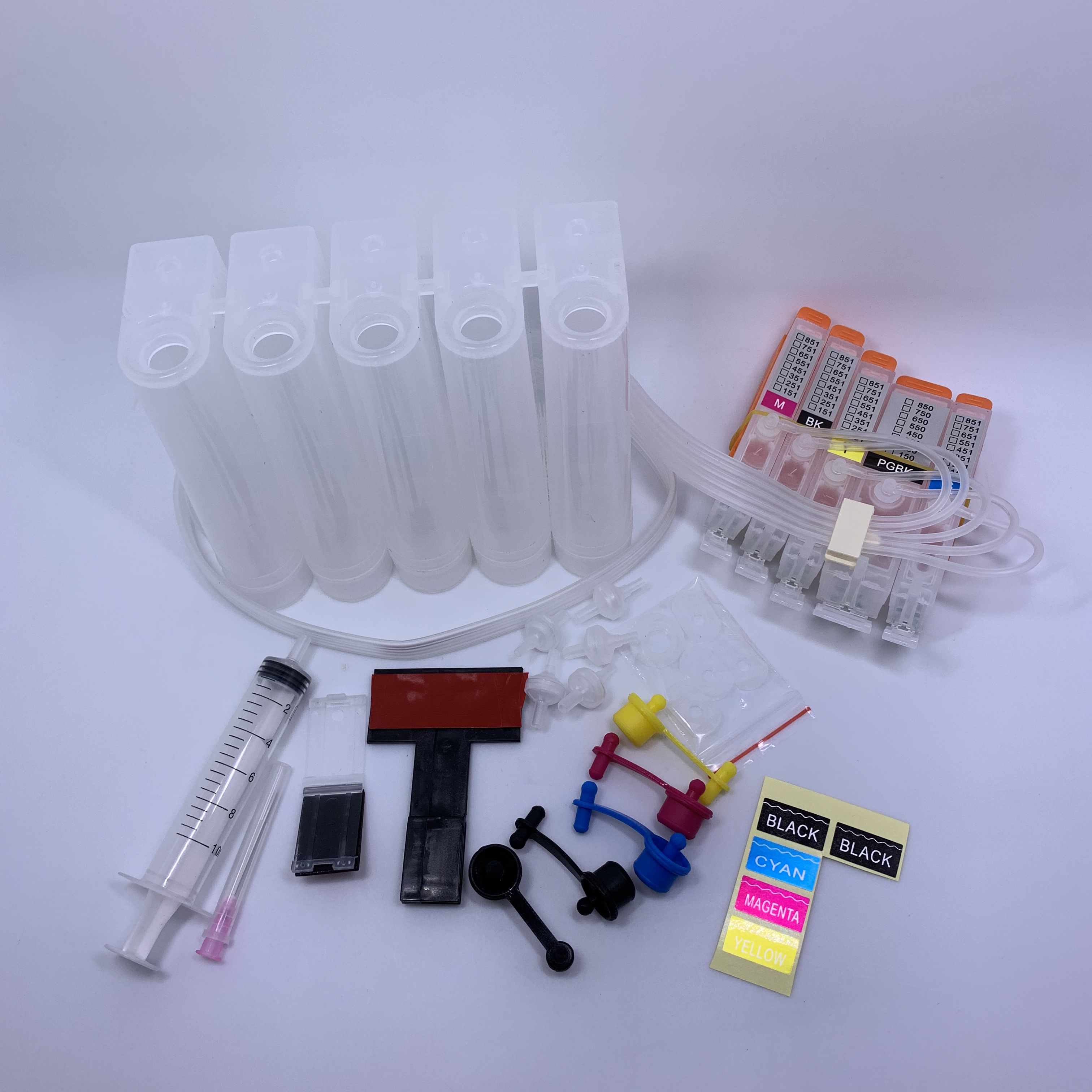 YOTAT 5Color CISS ink cartridge PGI 550XL PGI 550 CLI 551 for Canon PIXMA ip7250 iP8750 MG5450 MX725 MX925 MG6450 MG5550 IX6850 in Continuous Ink Supply System from Computer Office