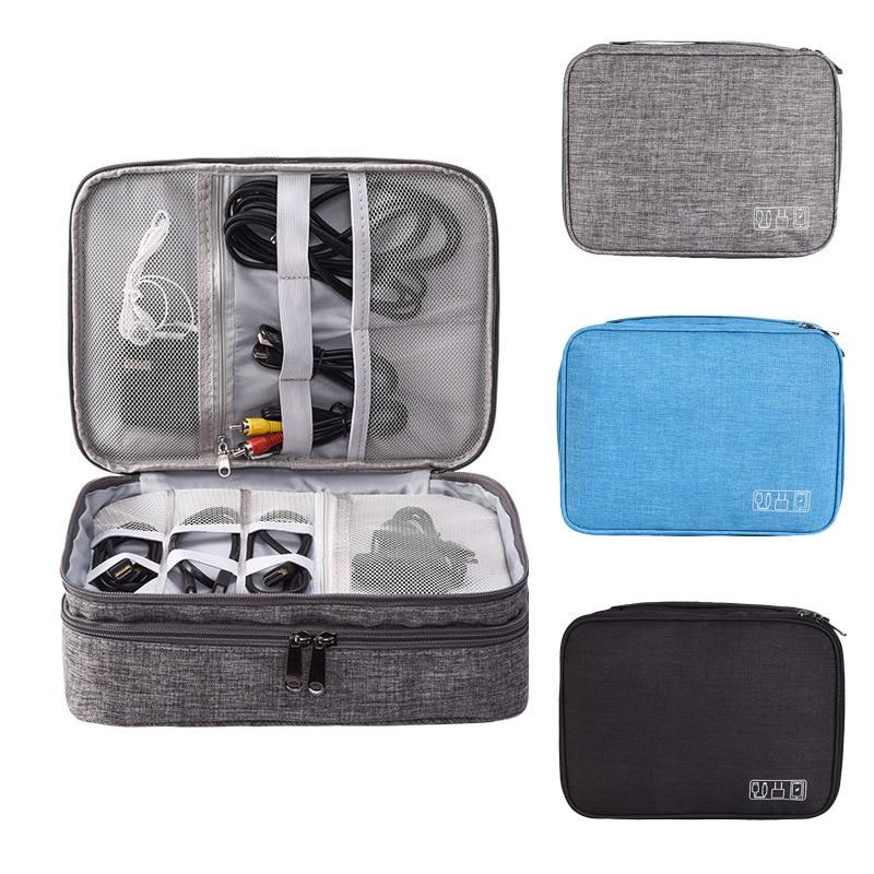 Multifunction Digital Storage Bag USB Gadget Organizer Charger Earphone Organizer Portable Travel Cable Bag Accessories Supplies