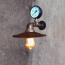 Lámparas de Loft de imitación de tubería de agua E27 lámpara de luz de pared dormitorio restaurante pub bar pasillo Luz retro aplique de pared sujetador