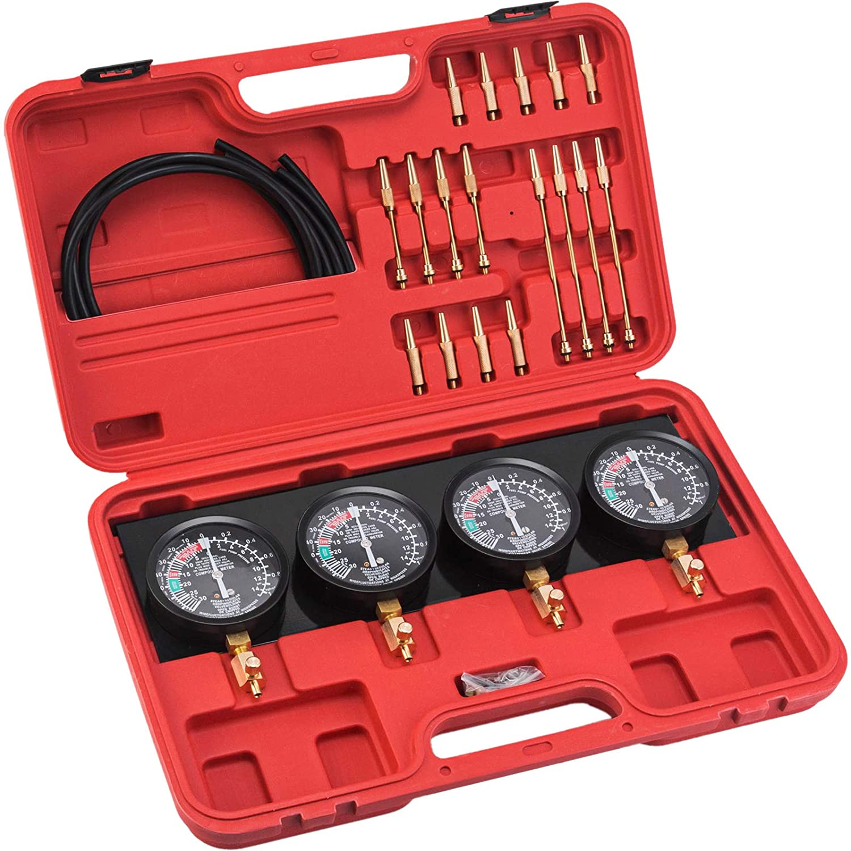 Fuel Vacuum Carburetor Synchronizer Carb Sync Gauge CB GS KZ 550 650 750 850 Vacuum Tool with Rubber Hose