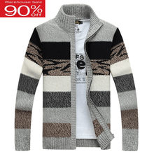 Men sweater cardigan zipper 2020 new arrival autumn and winter fashion trend male knitted coat Korean style M44(China)