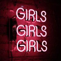 Pink Girls LED Neon Sign Light Bar Club Wall Decor LED Tube Visual Artwork Party Decoration Neon Lamp Home Decor Night Light