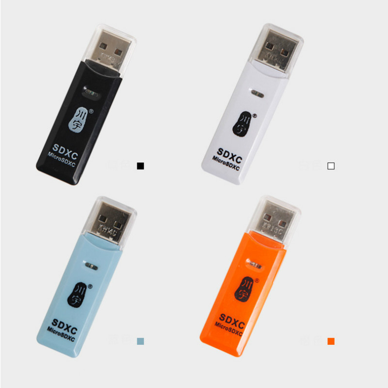 Image 3 - High Quality Mini USB 2.0 Card Reader for Micro SD Card TF Card Adapter Plug and Play Colourful Choose From for Tablet PC-in Card Readers from Computer & Office