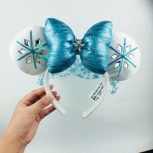 Image 3 - חדש דיסני Alsa קרח כחול קשת מיקי מיני סרט אוזני קוספליי