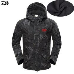 2019 New Jacket Winter Python Camouflage Fishing Coat Velvet Windproof Fishing Hooded Outdoor Keep Warm Fishing Jacket Man