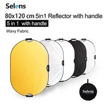 Портативный Студийный отражатель 80x120 см 5 в 1, складной многодисковый светильник для фото, фотосветильник, отражатель с сумкой для переноски